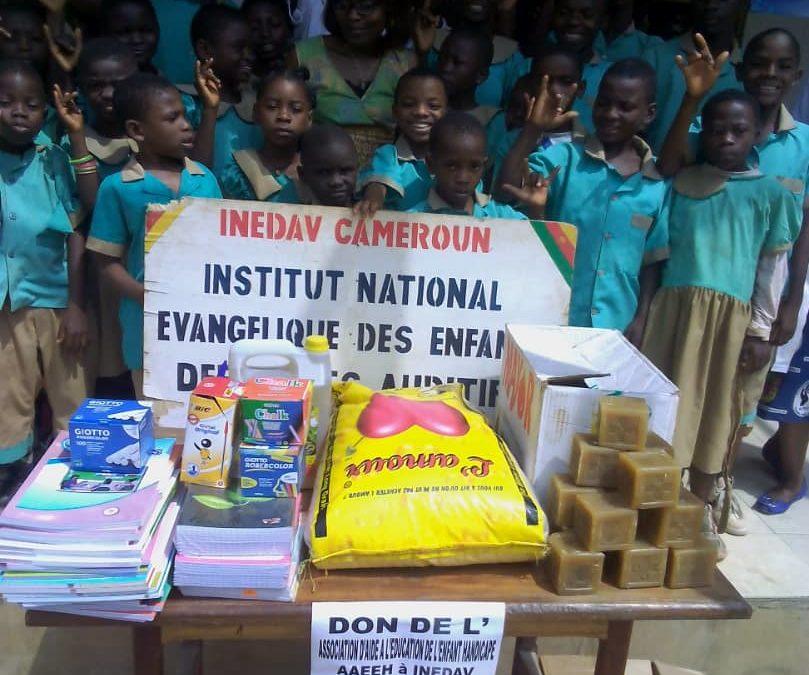 Remise de don en fournitures scolaires