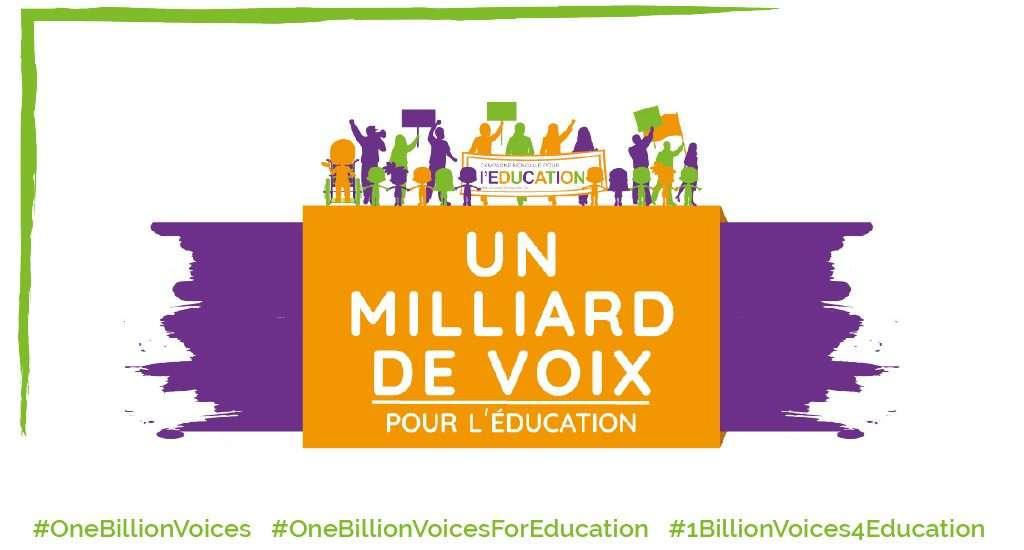 """Semaine mondiale d'action pour l'éducation : """"Un milliard de Voix"""""""